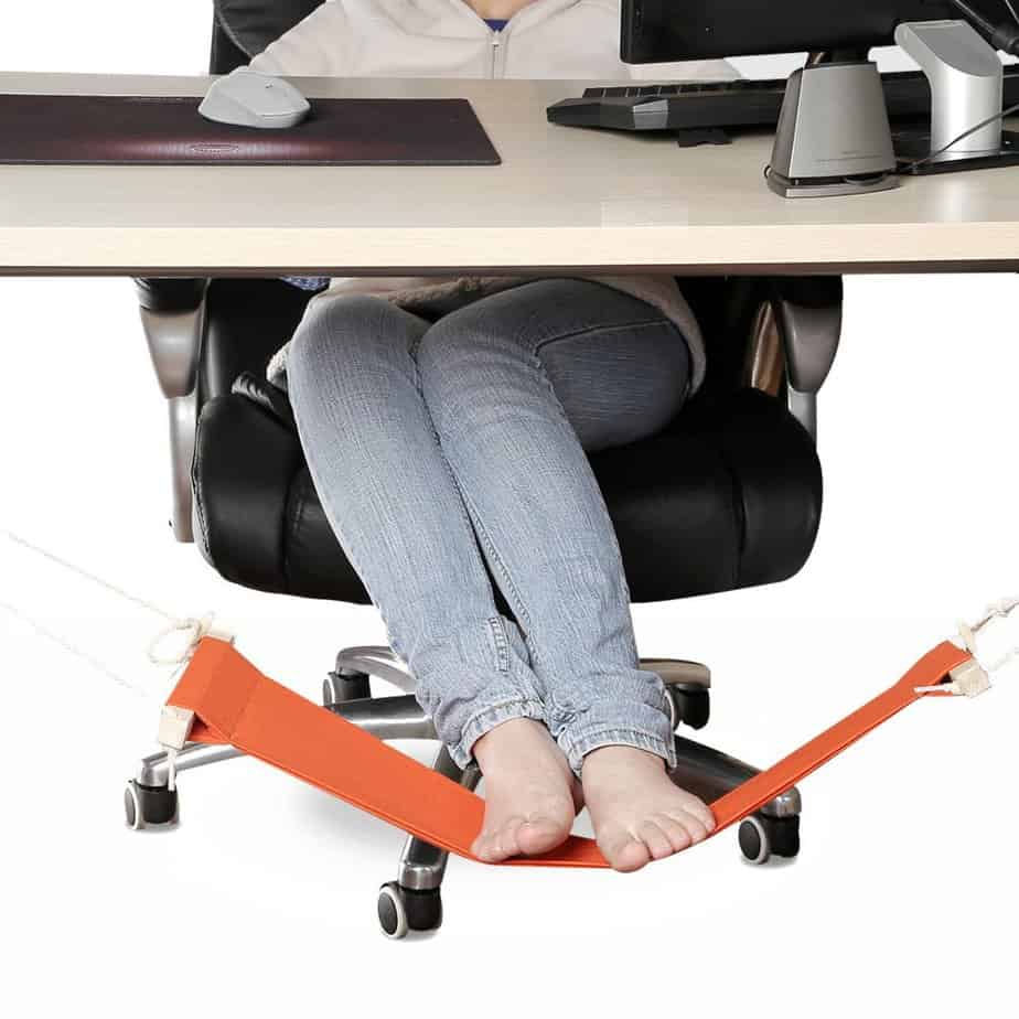 SMAGREHO Portable Adjustable Mini Office Foot Rest Stand Desk Foot Hammock