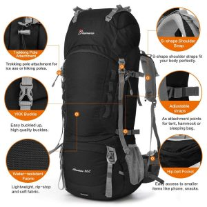 Mountaintop 80L Hiking Backpack OPTIONS